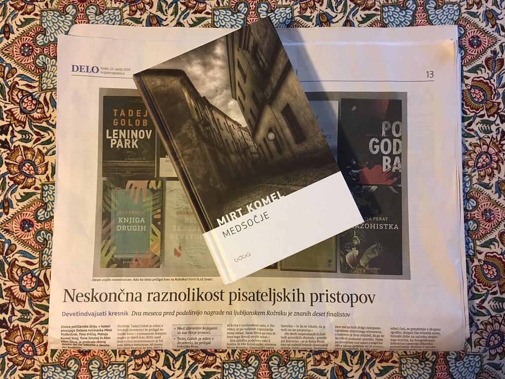 Mirt Komel nominiran za Kersnikovo nagrado 2019